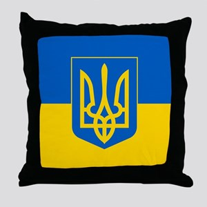 Ukrainian Flag Throw Pillow