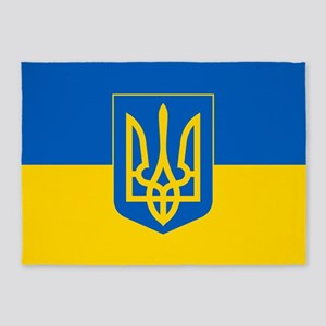 Ukrainian Flag 5'x7'area Rug