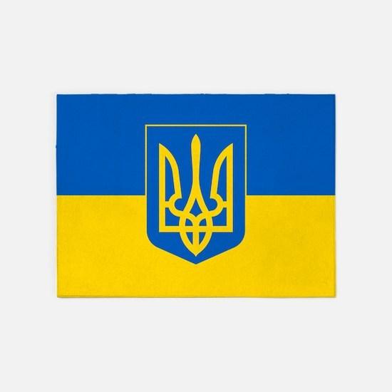 Ukrainian Flag 5'x7'area Rug