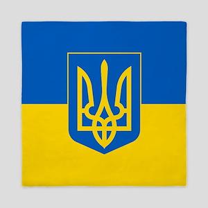 Ukrainian Flag Queen Duvet