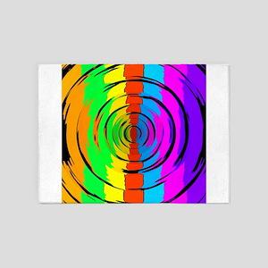 Rainbow Test Pattern 5'x7'Area Rug