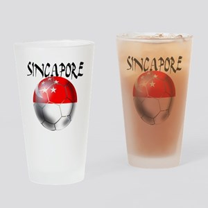 Singapore Football Drinking Glass