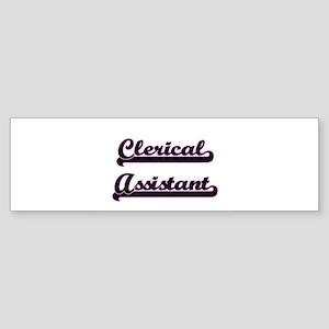 Clerical Assistant Classic Job Desi Bumper Sticker
