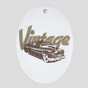 Vintage Car Ornament (Oval)