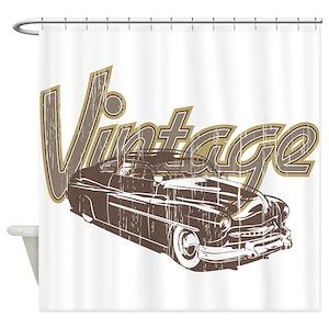 Vintage Cars Shower Curtains