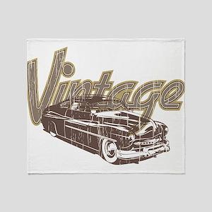 Vintage Car Throw Blanket