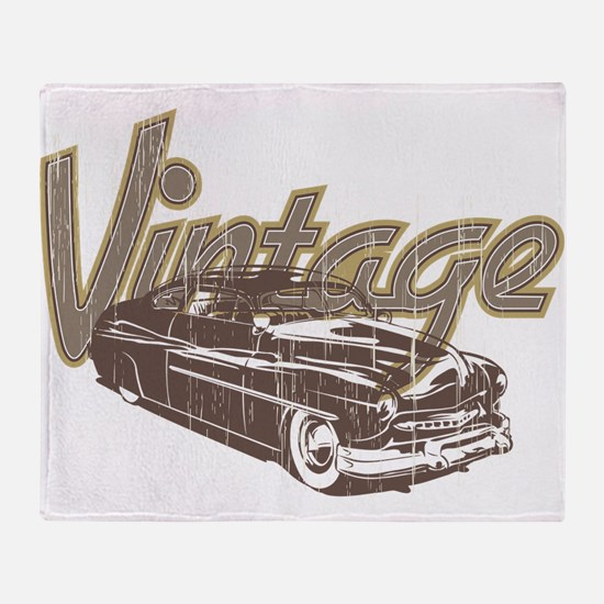 Vintage Car Throw Blanket