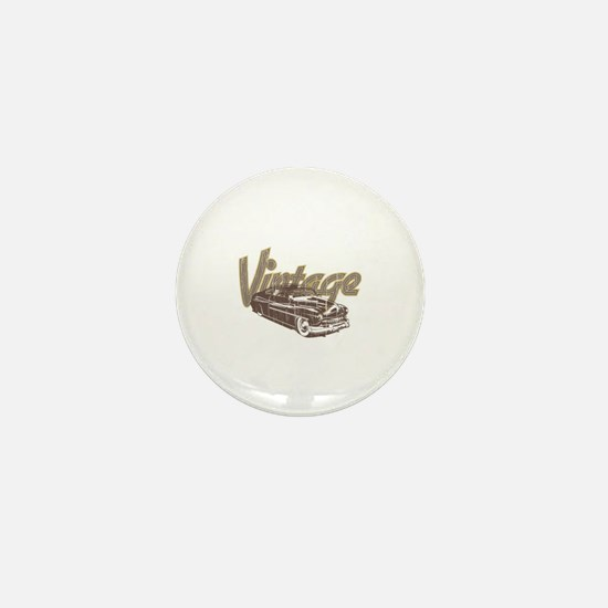 Vintage Car Mini Button