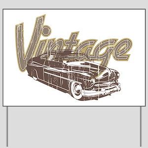Vintage Car Yard Sign