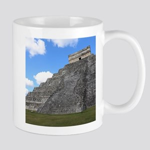 Chichen Itza Temple of Kukulcan south-west Vi Mugs