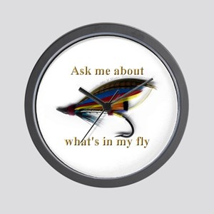 What's in my Fly  Wall Clock