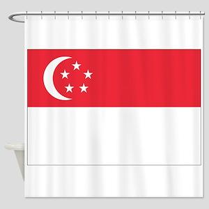 Flag of Singapore Shower Curtain