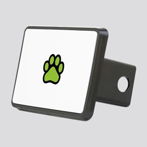 Lime green paw print basic Rectangular Hitch Cover