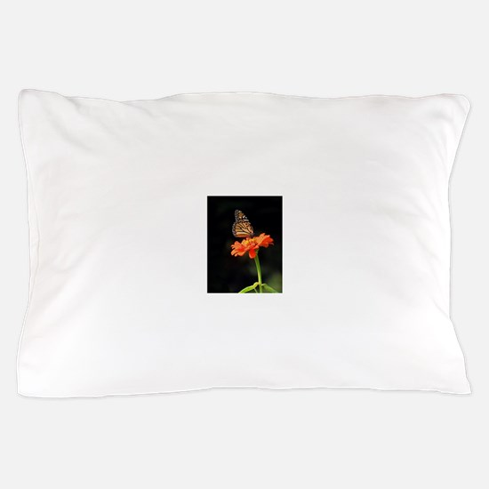 Simple Butterfly on a Flower Pillow Case