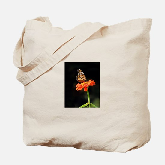 Simple Butterfly on a Flower Tote Bag