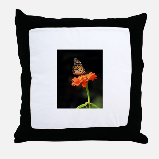 Simple Butterfly on a Flower Throw Pillow