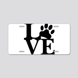 Pet Love and Pride (basic) Aluminum License Plate