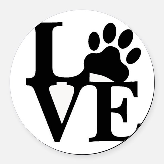 Pet Love and Pride (basic) Round Car Magnet