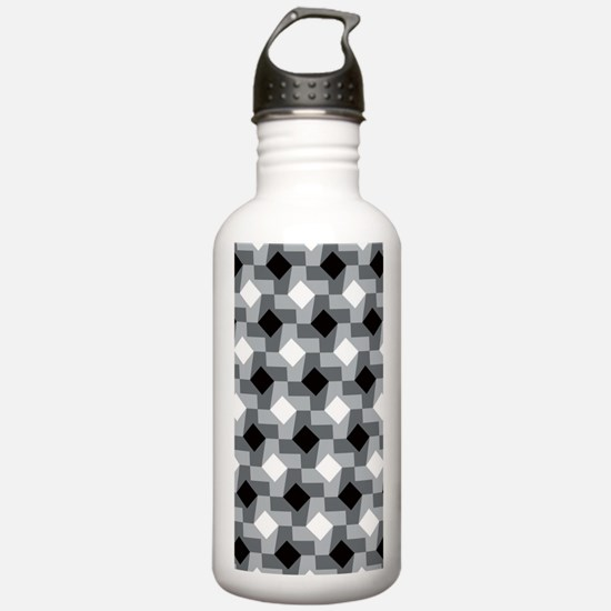 Blurry Houndstooth Water Bottle