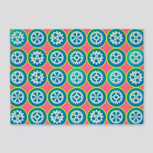 Gearwheels pattern 5'x7'Area Rug