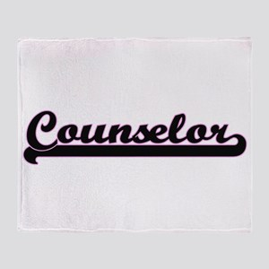 Counselor Classic Job Design Throw Blanket