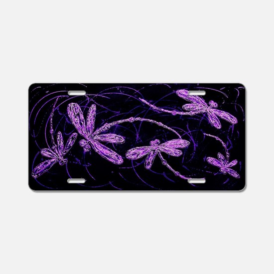 Funny Dragonflies Aluminum License Plate