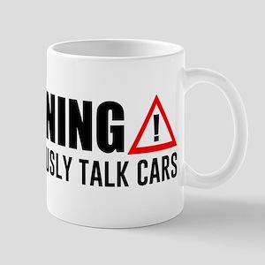 Warning May Spontaneously Talk C 11 oz Ceramic Mug