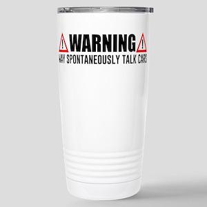Warning May Spont 16 oz Stainless Steel Travel Mug