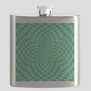 Checkered Optical Illusion Flask