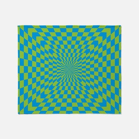 Checkered Optical Illusion Throw Blanket