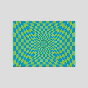 Checkered Optical Illusion 5'x7'Area Rug