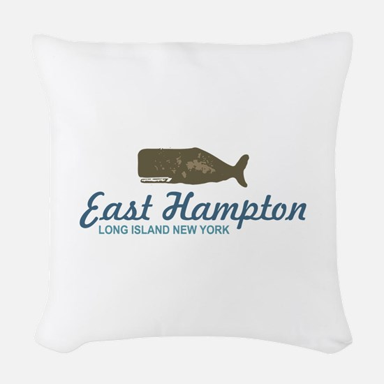 East Hampton - New York. Woven Throw Pillow