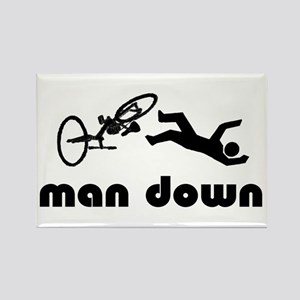 cyclist down Rectangle Magnet