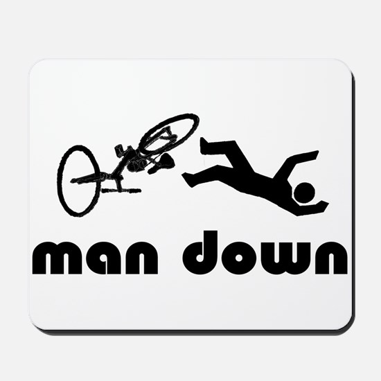 cyclist down Mousepad