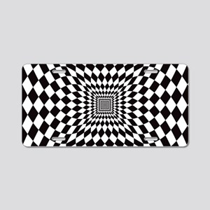 Optical Check Perspective Aluminum License Plate
