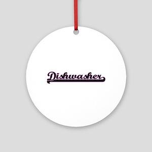 Dishwasher Classic Job Design Ornament (Round)