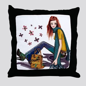 Fashion Girl Throw Pillow