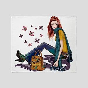 Fashion Girl Throw Blanket