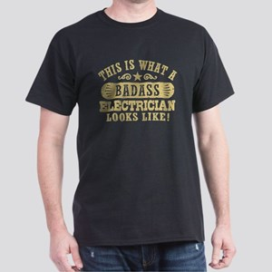 Badass Electrician Dark T-Shirt