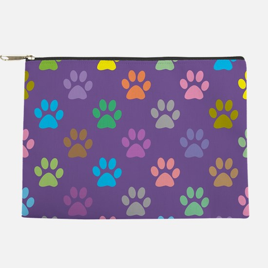 Colorful paw prints pattern Makeup Pouch