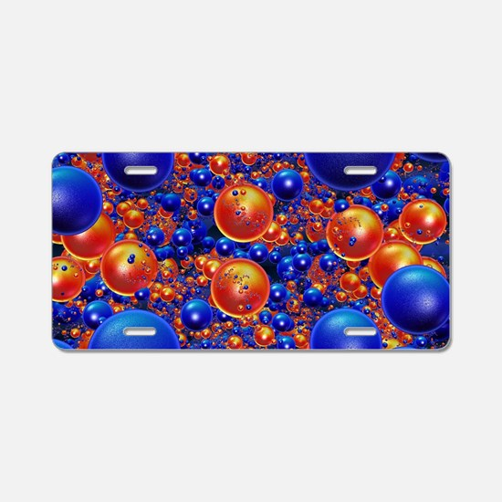 Shiny 3D balls Aluminum License Plate