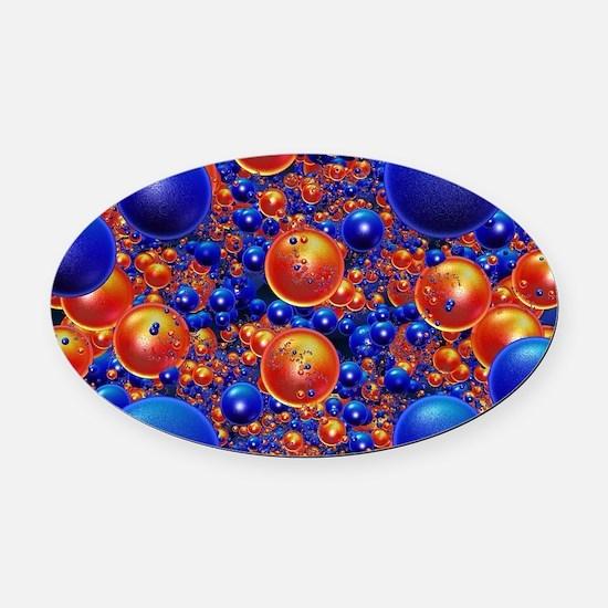 Shiny 3D balls Oval Car Magnet