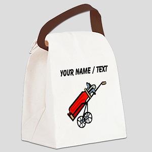 Custom Golf Bag On Wheels Canvas Lunch Bag