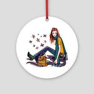 Fashion Girl Ornament (Round)