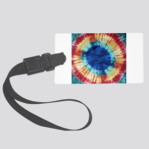 Tie Dye Design Large Luggage Tag