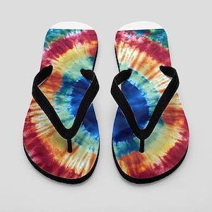 Tie Dye Design Flip Flops