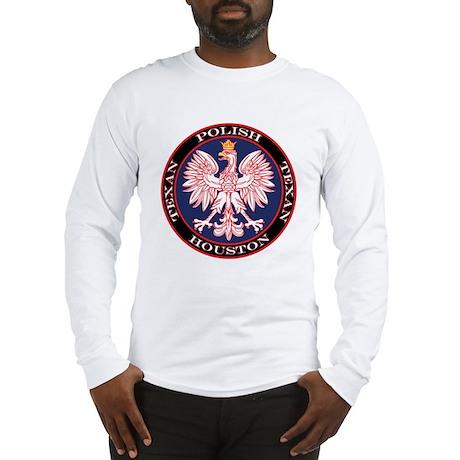 Houston Round Polish Texan Long Sleeve T-Shirt