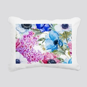 Chic Watercolor Floral P Rectangular Canvas Pillow
