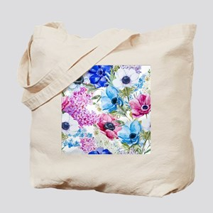 Chic Watercolor Floral Pattern Tote Bag