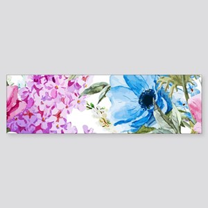 Chic Watercolor Floral Pattern Sticker (Bumper)